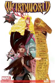Weirdworld #3  Becca the Earthgirl! Goleta the Wizardslayer! Catbeast! A fellowship of adventurers who might kill each other. Goleta's badass muscle car needs an enchanted gizmo, and the only person who has one isn't feeling generous. Morgan Le Fay makes a move against Becca-- and triggers a war on Weirdworld!  This is series is so much fun and, well...weird.  I highly suggest it if you need a little bit of fantasy in your collection.