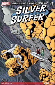 Silver Surfer #2 This book is a ton-of-fun! It really has this old Stan Lee, Fantastic Four feel, but still modern. Dan Slott, has also done a great job with filling in gaps with Surfers past before he became a Herald for Galactus. It's been pretty corky, it just sets itself apart from other Marvel books.