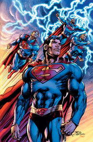Superman: Coming of the Supermen #1  As Darkseid and the hordes of Apokolips lay waste to the world, even Superman is overwhelmed—but not for long, as three heroes from the miniaturized city of Kandor emerge at full size, armed with all the vast powers of Kal-El, ready to become the new Supermen!  This battle of titans also features the machinations of Lex Luthor, plus fan favorites Jimmy Olsen and Lois Lane aiding in the fight for Truth, Justice and the American Way.
