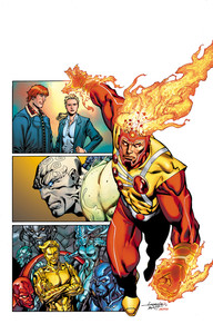 Legends of Tomorrow #1 It's four powerhouse tales in one colossal comic, as some of comics' most legendary talents launch new tales of Firestorm, Metamorpho, Metal Men and Sugar and Spike—that's right, Sugar and Spike! We haven't seen some of these characters in quite a long time, to have them all in one big book is exciting! If you've missed these characters or always wanted to know more about them, now is your chance!