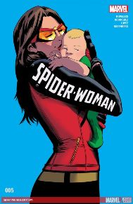 Spider-Woman #5 Now that's she's back on Earth, Jess learns that she's still got a lot of work to do when it comes to being a full-time super hero AND a full-time mom! Get your first real glimpse at Jess' new life and all the people in it right here! The next chapter of Jessica Drew's story begins with this can't-miss issue!