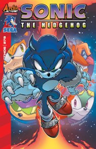 """Sonic the Hedgehog #279 Sonic is in a fight for his life! Sonic and his friends are at the mercy of Egg Boss Nephthys and her Egg Army. They came to rescue a Gaia Key Guardian-but can they manage to escape with their lives? Then, in the finale to """"Hidden Costs,"""" revelations abound! Sally and Clove both think their plans have succeeded-but at what cost? Featuring cover art by jamming Jamal Peppers and Jennifer Hernandez! This book always brings a nostalgia factor for me, no matter how old I become, it's never too old for Sonic; it's still fun."""