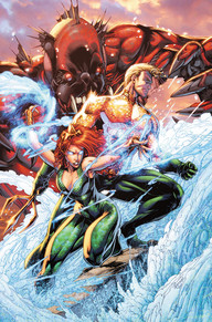 Aquaman #50  I was a fan of Cullen Bunn's run on Aquaman.  It was a fresh story that really added to the mythology of Atlantis.  But wow, Dan Abnett has been knocking it out of the park so far and this big issue is just awesome.  We get a new villain, Mera is really stepping up and we're getting a lot of character development from her and I love it.