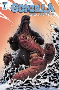 Godzilla Oblivion #1  A scientist has created a portal to another dimension — one where monsters rule supreme! A terrifying expedition begins into a world where hope has died and Godzilla is the unrivaled King of the Monsters. But what happens when a baby kaiju hitches a ride back to the original, monster-less dimension?