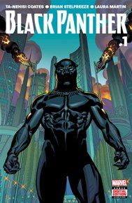 Black Panther #1 The indomitable will of Wakanda—the famed African nation known for its vast wealth, advanced technology, and warrior traditions—has long been reflected in the will of its monarchs, the Black Panthers. But now the current Black Panther, T'Challa, finds that will tested by a superhuman terrorist group called the People that has sparked a violent uprising among the citizens of Wakanda. T'Challa knows the country must change to survive—the question is, will the Black Panther survive the change?