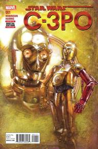 Star Wars Special: C3PO #1  Follow everyone's favorite protocol droid as he Journeys to Star Wars: The Force Awakens, in this special one-shot leading up to his appearance in the film! Just how did Threepio get a red arm, anyway? Find out here as the blockbuster creative team of James Robinson and Tony Harris of DC's Starman reunite for the first time in nearly two decades!