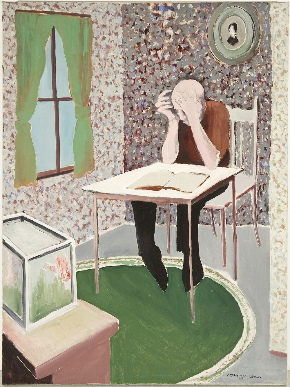 "Top Floor, 1965 oil on canvas 23 x 32"""