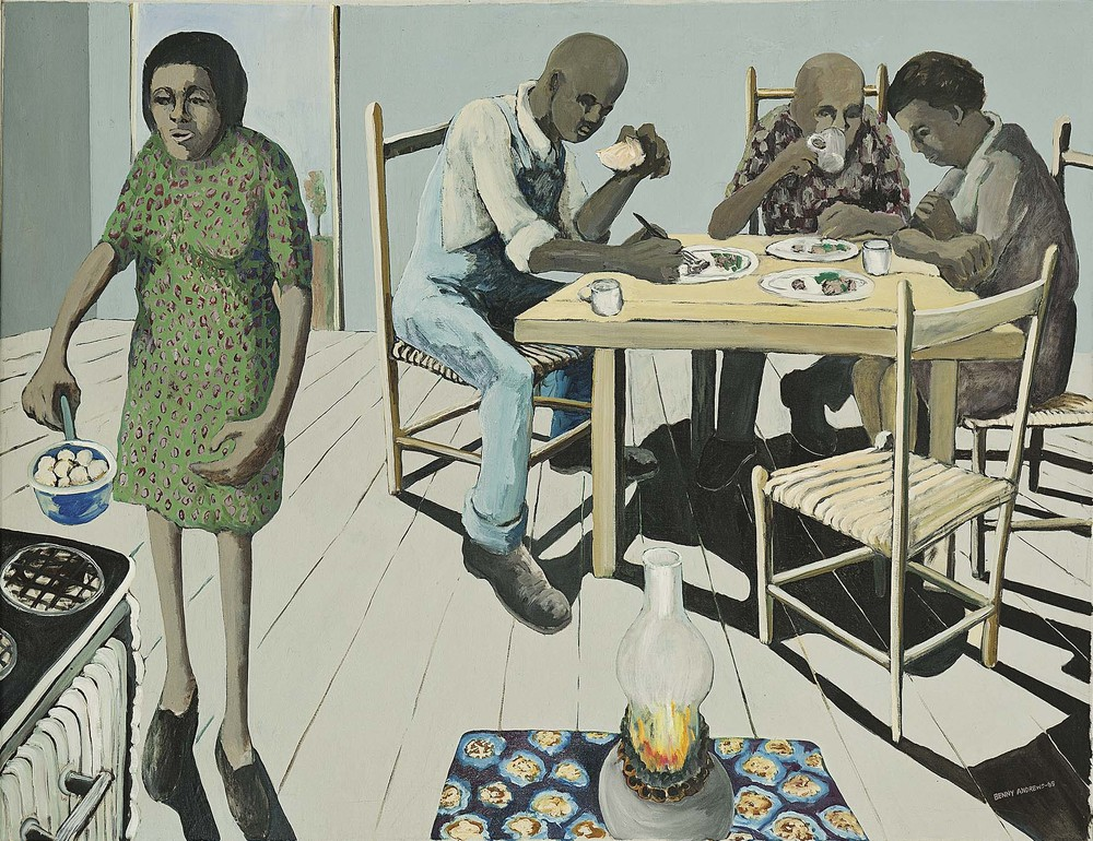 Dinner Time,  1965 oil on canvas 39.5 x 51""