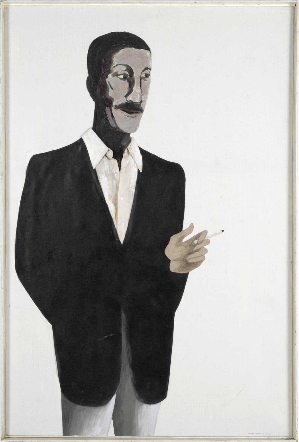 Portrait of Norman Lewis,  1985 oil and collage on canvas 60 x 40""