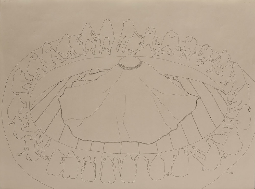 Circle Study #7,  1972 pen and ink on paper 18 x 24""