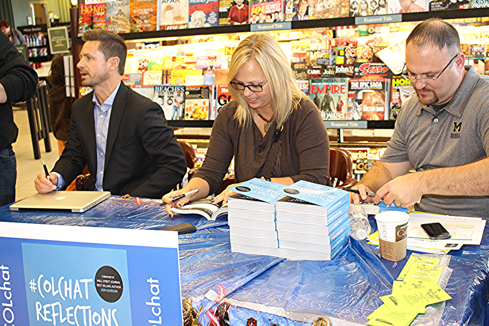#COLchat Authors: Adam Hartley,  Michele Corbat, Rodney Hetherton @ Barnes & Noble book signing (October 2015)