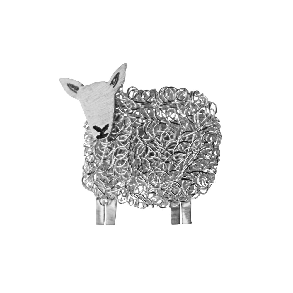 cheviot sheep brooch jewellery