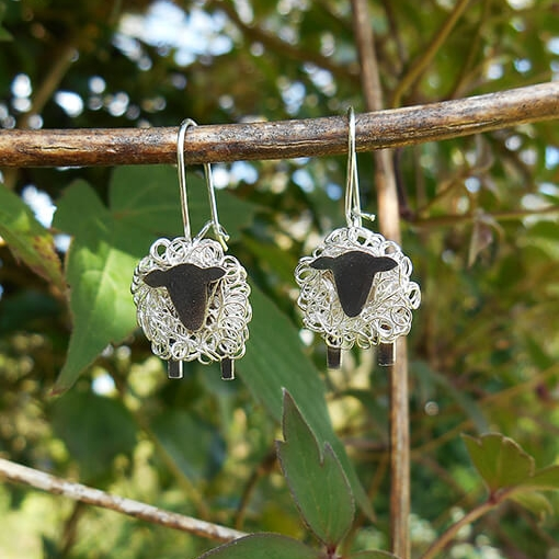 Silver sheep earrings - The perfect sheep gift for her!