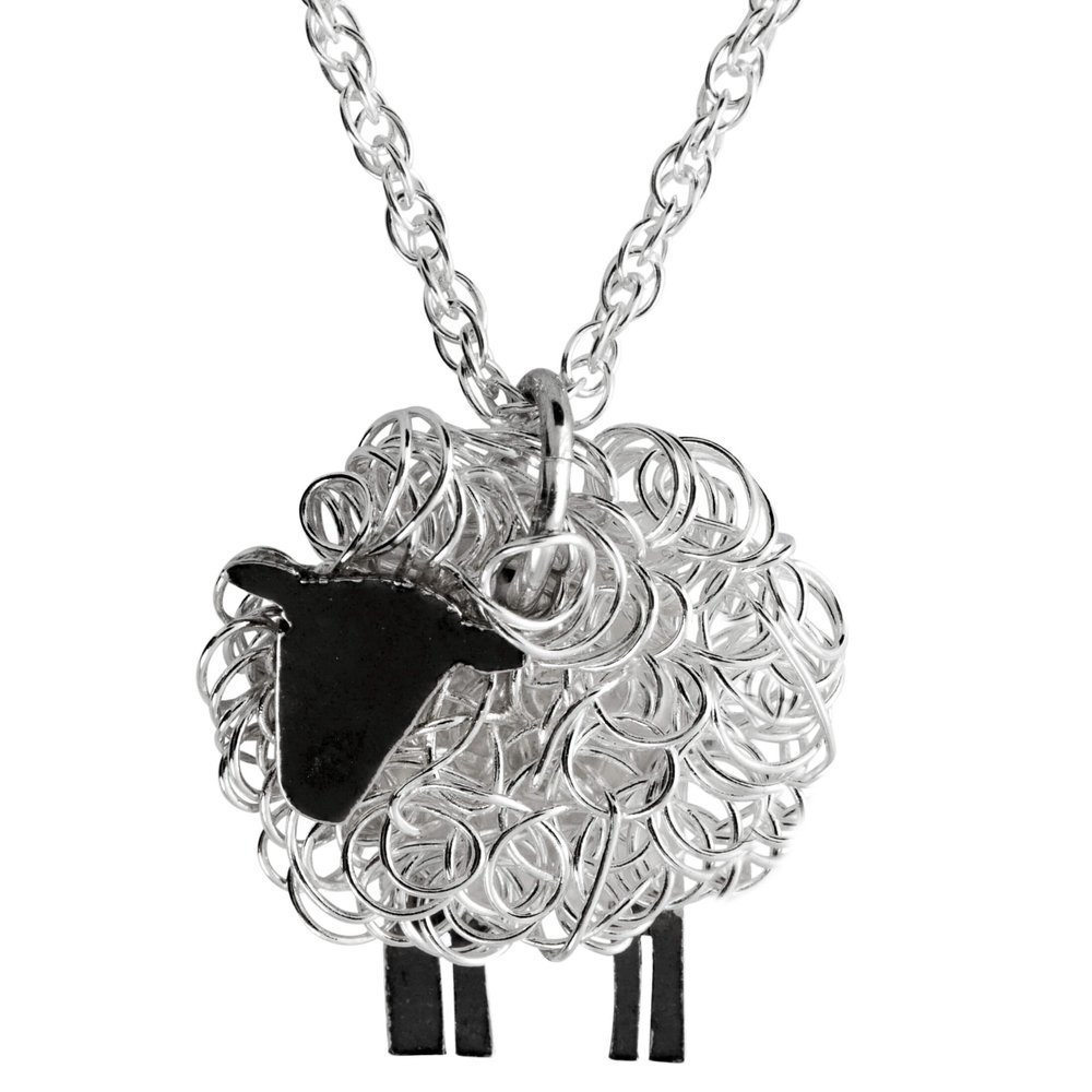 Silver sheep necklaces - Handcrafted by silversmiths in the UK