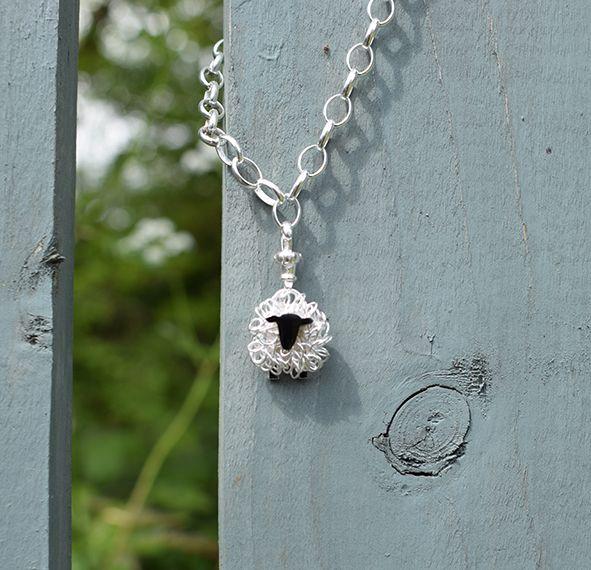 silver sheep charm bracelet