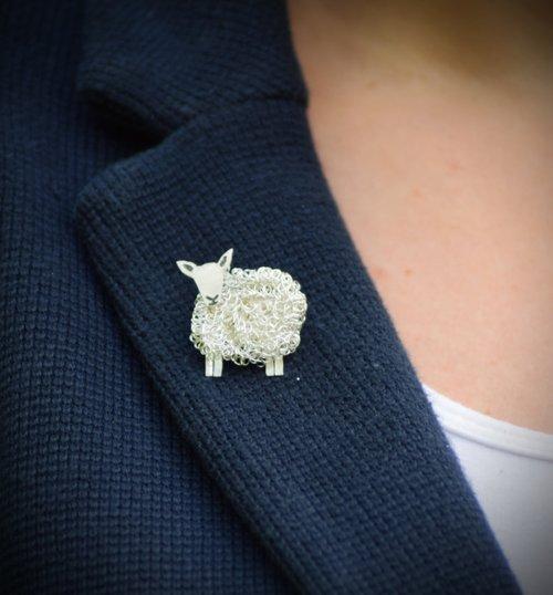 Cheviot sheep brooch sheep jewellery Cheviot sheep gift.jpg
