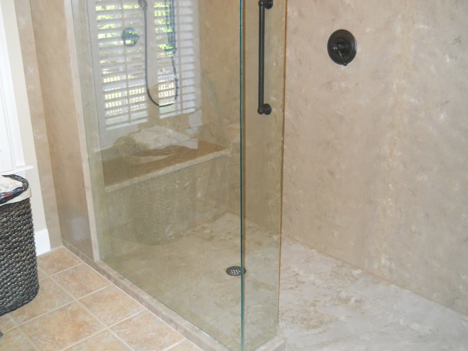 Nice Solid Surface Showers Are Ideal For Those With Mobility Needs. Each  Custom Designed Shower Can Be Fabricated To Meet Specific Mobility Needs  For The Elderly ...