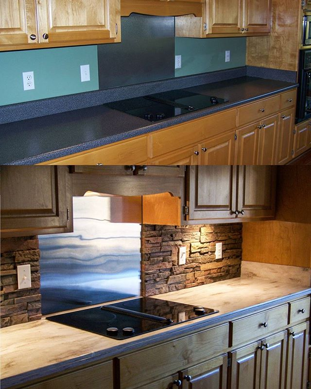 Corian's Sandalwood gives this CSRA kitchen a modern update. #SolidSurface #CSRA #SolidSurfaceCountertops #KitchenRemodel #ChooseCorian #Sandalwood #Corian #KitchenCounters
