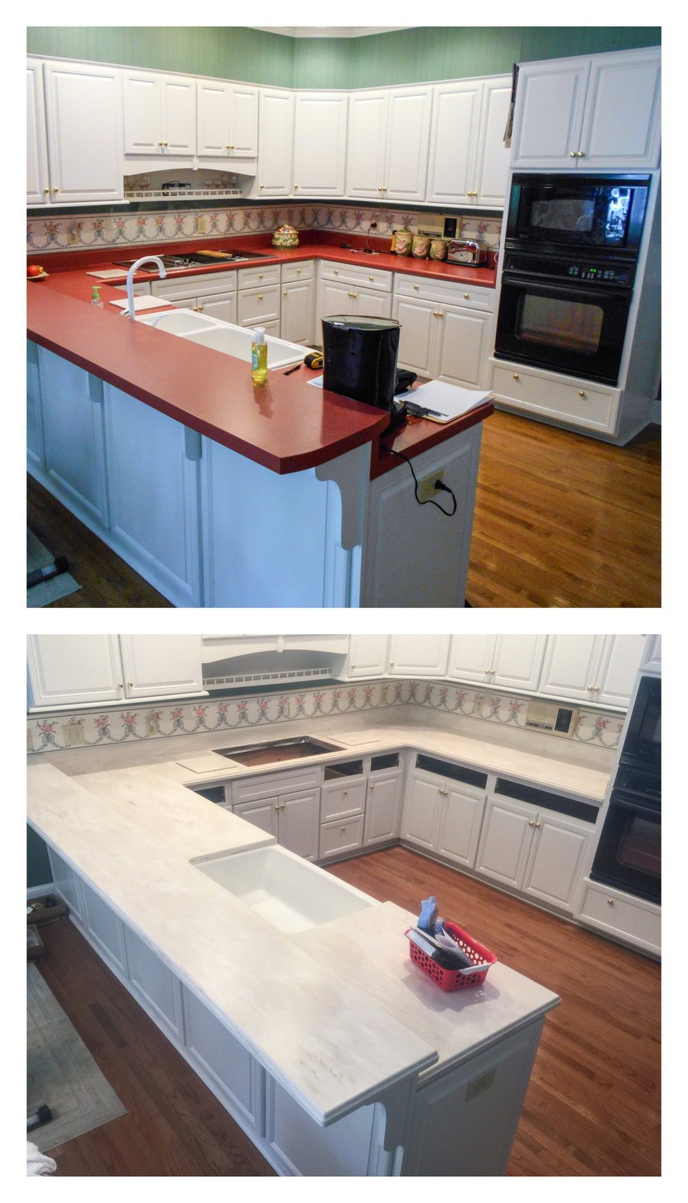 This local kitchen made the switch from laminate to solid surface!
