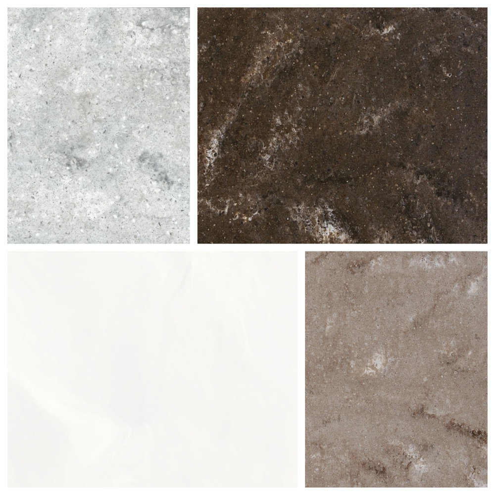 Clockwise from top left: Lago, Parma, Lucca, and Breeze from Himacs