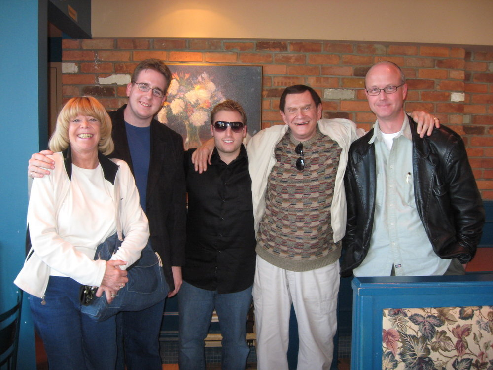 June 2008 - L to R Pam Hayes, ME, Ben Train, Johnny Thompson, David Peck