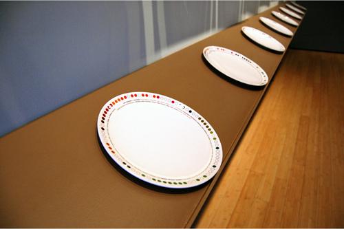 seasonal calendar plates