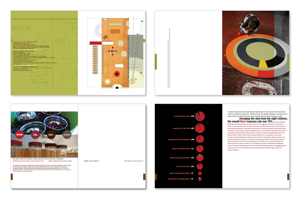 MFA thesis process book (sample spreads set 2)