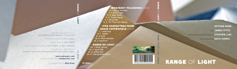 CD packaging (trifold exterior panels)