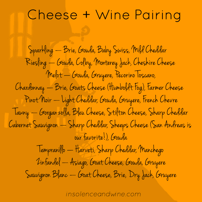 cheese + wine paring for fall halloween wine tasting insolence + wine