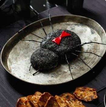 Black Widow Goat Cheese Log via  Food and Wine