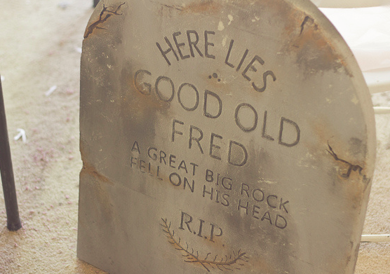 Spooky gravestones from  Kimberly Michelle