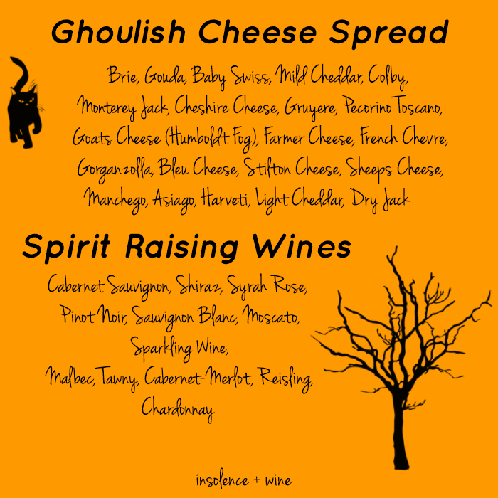 halloween spooktacular wine tasting party insolence + wine