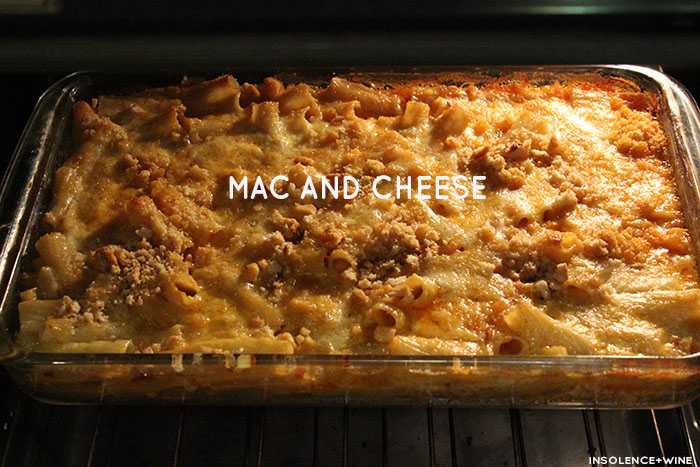 insolence + wine baked mac and cheese