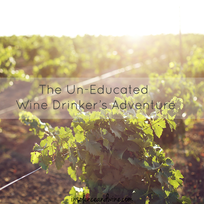 un-educated wine drinker's adventure insolence + wine