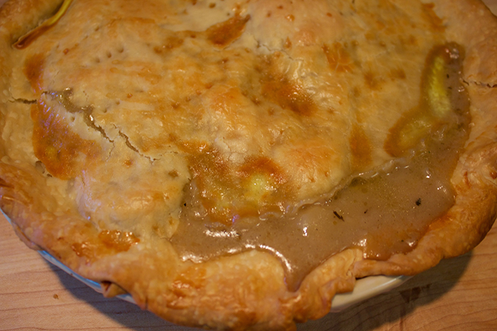 chicken potpie insolence + wine