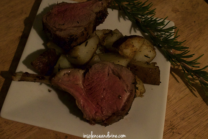 herb crusted rack of lamb insolence + wine