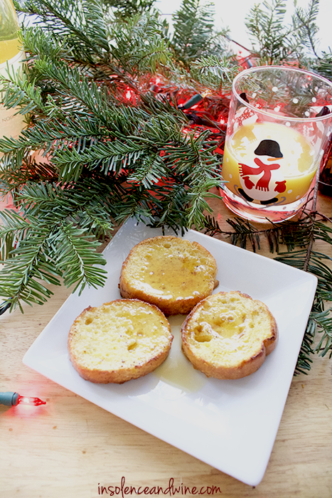 holiday brunch favorites orange french toast insolence + wine