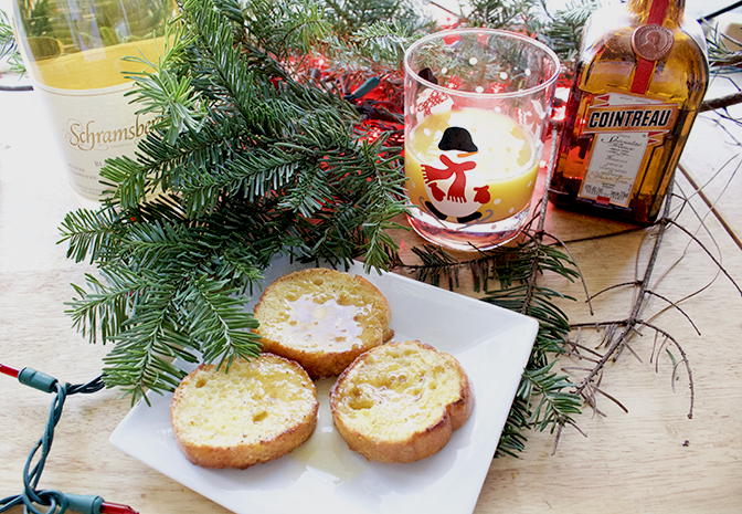 holiday brunch orange french toast insolence + wine