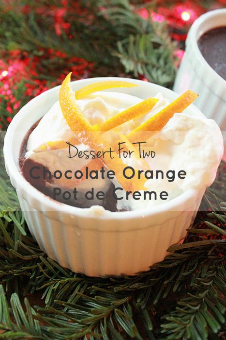 chocolate orange pot de creme insolence + wine