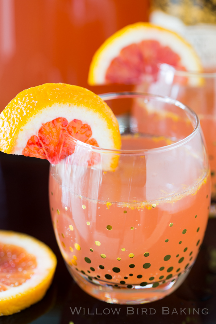 Blood Orange Champagne Sparkler via Willow Bird Baking