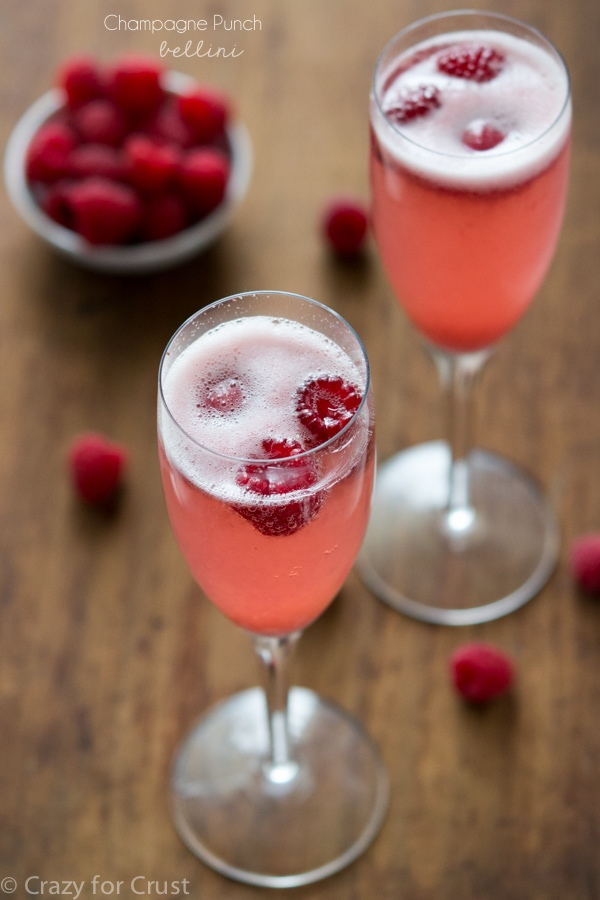 Champagne Punch Bellini via Crazy for Crust