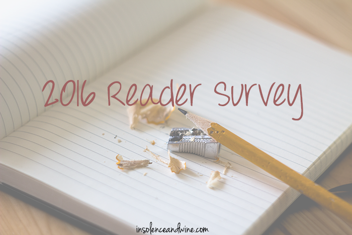 insolence + wine 2016 reader survey