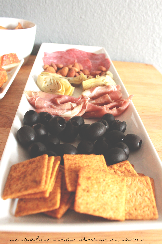 antipasto platter insolence + wine