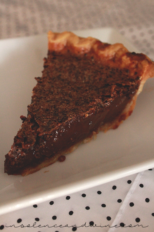 Minny's Chocolate Pie insolence + wine