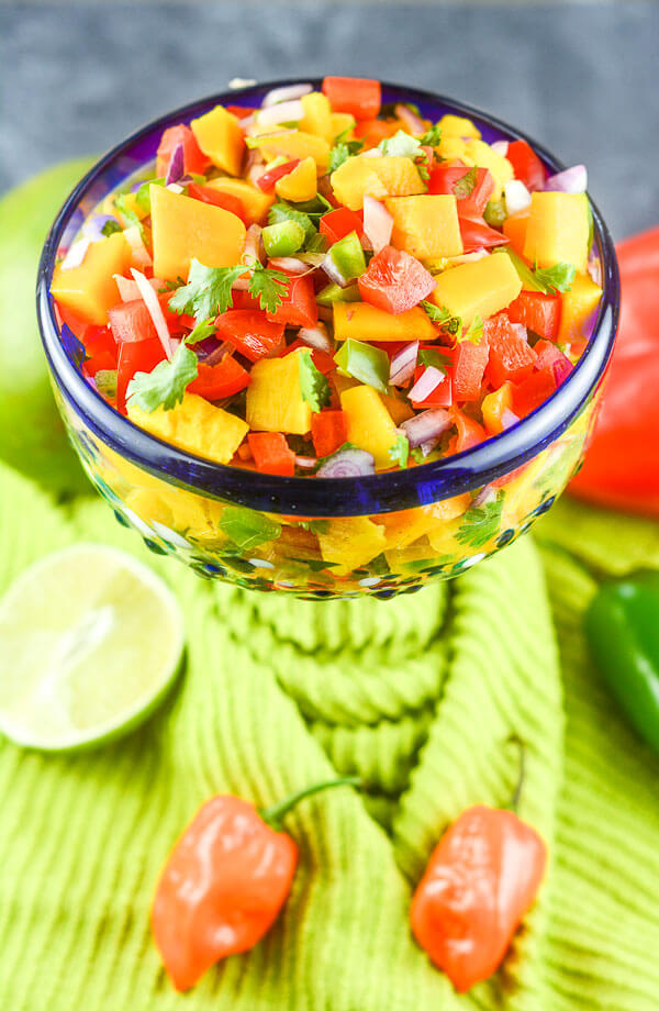 Add a splash of tequila to bring out some of the truly unique flavors from viognier. Mango Habanero Salsa via Flavor Mosaic