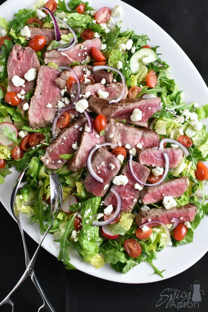 Steak Salad with Blue Cheese Crumbles