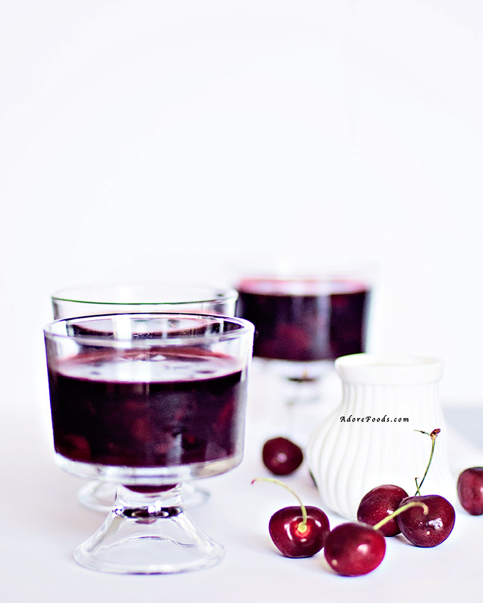 German Red Berry Pudding