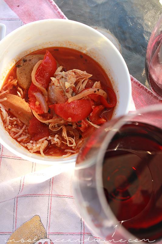 Spanish Chicken Chorizo Stew insolence + wine