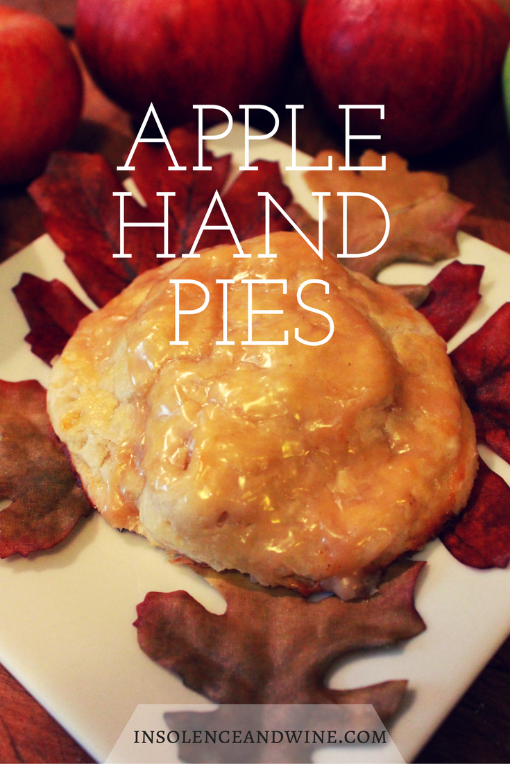 These apple hand pies are easy to make but serve them with the right glass of wine and you've suddenly got an elegant dessert for an autumn party. insolence + wine
