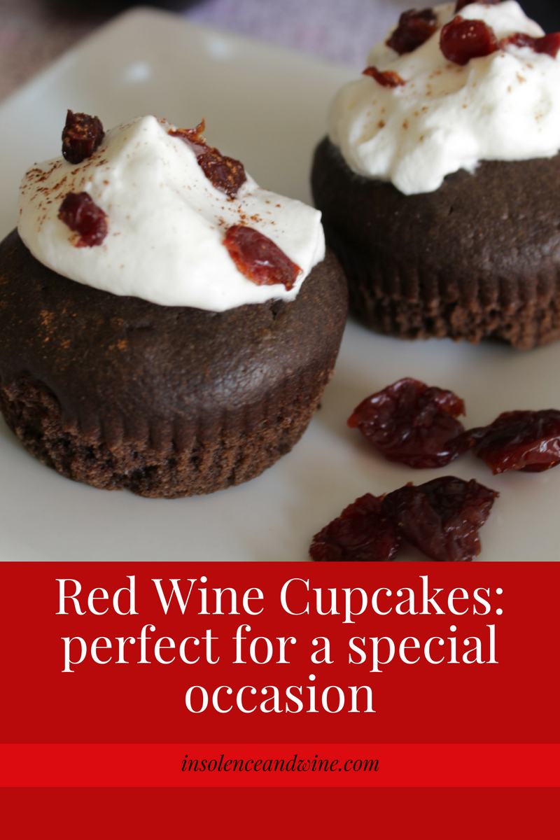 red wine cupcakes made with cabernet sauvignon are perfect for a special occasion where you're looking to leave an impression. insolence + wine